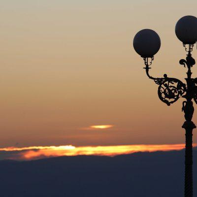 Light Post Sunset