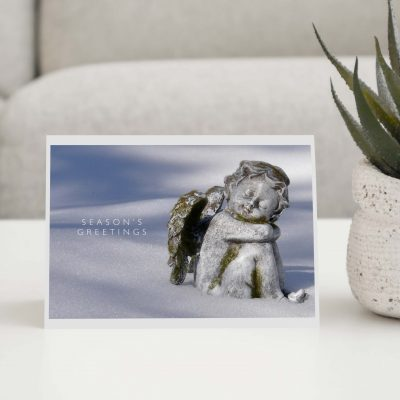 Angel In The Snow Greeting Card