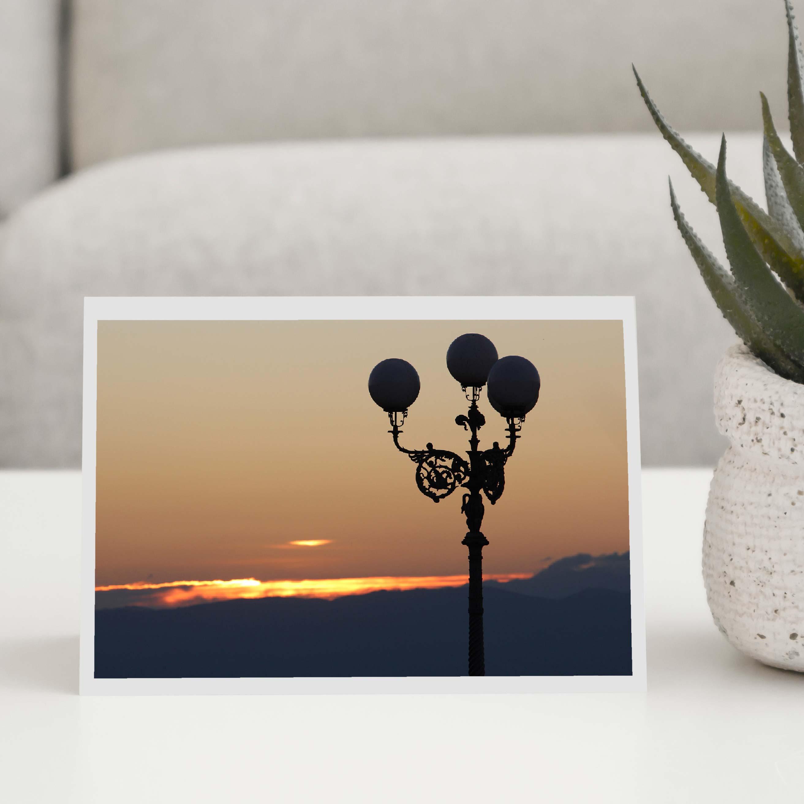 Italian Sunset Greeting Card