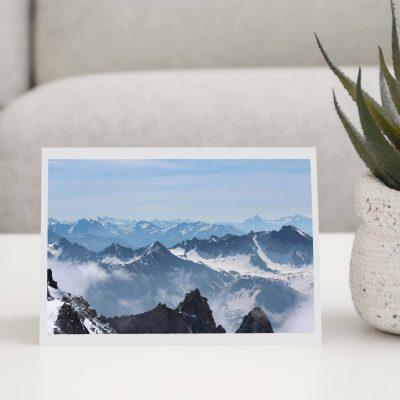 Mont Blanc Mountains Greeting Card