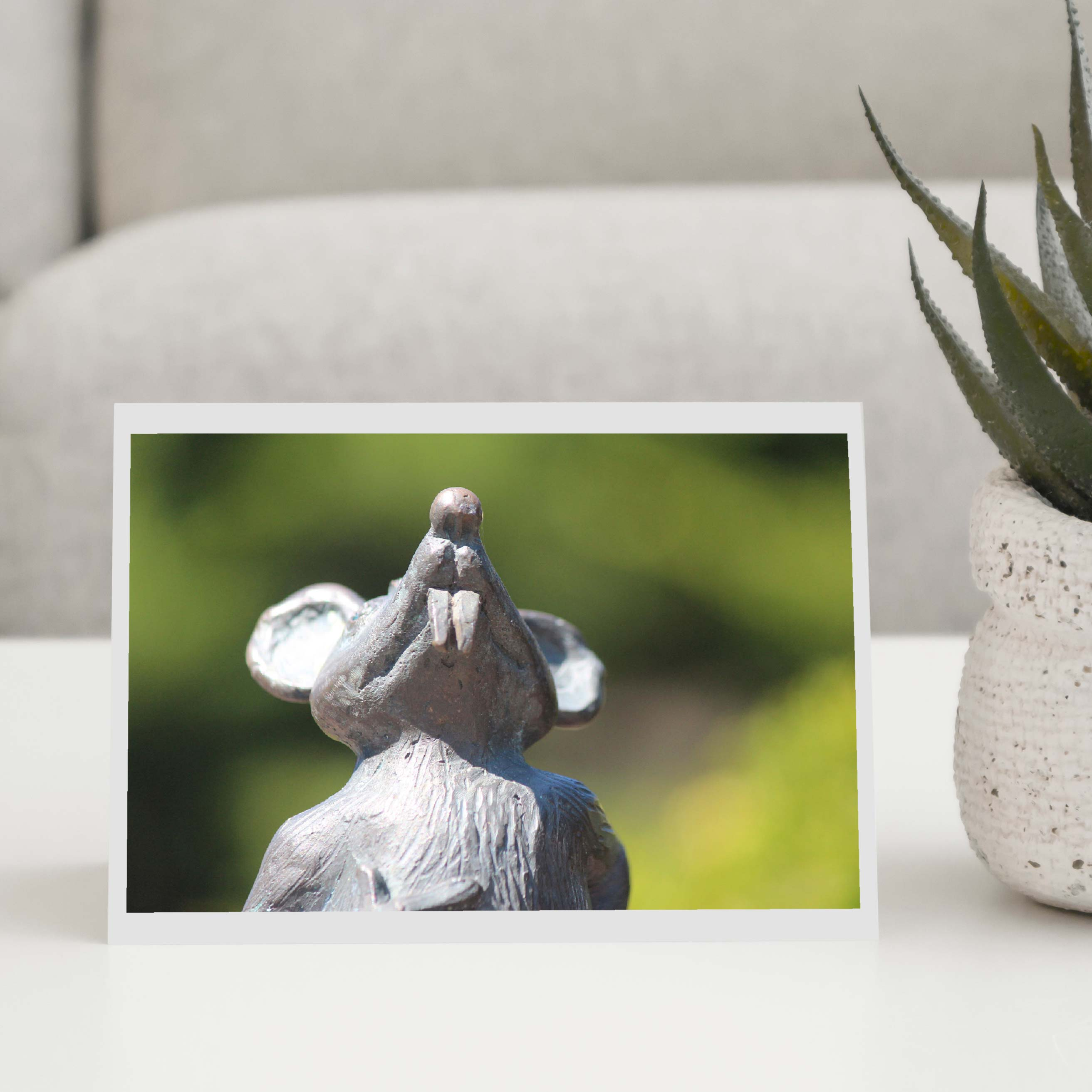 Stone Mouse Greeting Card