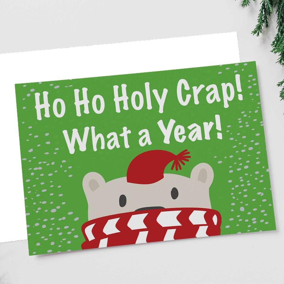 Ho Ho Holy Crap Christmas Card